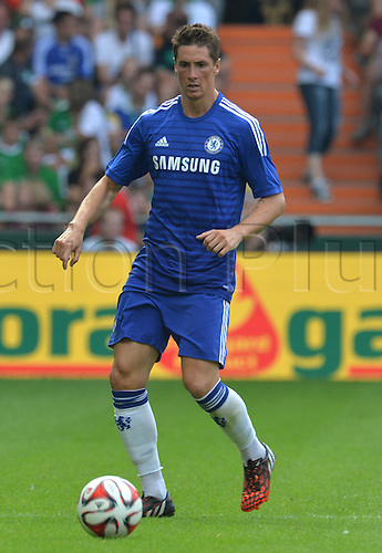 03.08.2014. Bremen, Germany.  Chelsea's Fernando Torres during the soccer friendly match between Werder Bremen and FC Chelsea at Weserstadion in Bremen, Germany.