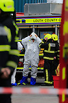 the Scene at Glanbia on the Dublin road on Monday Afternoon, four units of the fore service and two ambulances attended the scene of a chemical leak.<br /> Picture: Fran Caffrey www.newsfile.ie