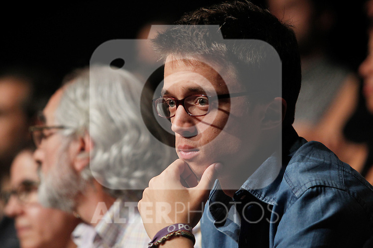 `Podemos´ member Inigo Errejon during the political party team presentation for the Spanish General Elections in Madrid, Spain. July 16, 2015. (ALTERPHOTOS/Victor Blanco)