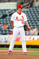 Kevin Thomas (35) of the Springfield Cardinals on the mound during a game against the Midland RockHounds on April 19, 2011 at Hammons Field in Springfield, Missouri.  Photo By David Welker/Four Seam Images