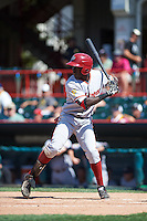 Altoona Curve designated hitter Anderson Feliz (2) at bat during a game against the Erie SeaWolves on July 10, 2016 at Jerry Uht Park in Erie, Pennsylvania.  Altoona defeated Erie 7-3.  (Mike Janes/Four Seam Images)