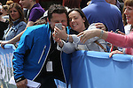 Breakfast TV host Chris Hollins poses with a fan for a photograph.<br /> Celebrity Cup Golf<br /> Celtic Manor Resort<br /> 04.07.14<br /> &copy;Steve Pope-SPORTINGWALES