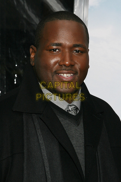 "QUINTON AARON.The New York City Premiere of ""The Blind Side"" held at the Ziegfeld Theater, New York, NY, USA..November 17th, 2009.headshot portrait black grey gray goatee facial hair .CAP/LNC/TOM.©TOM/LNC/Capital Pictures."