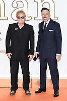 Sir Elton John &amp; David Furnish at the world premiere for &quot;Kingsman: The Golden Circle&quot; at the Odeon and Cineworld Leicester Square, London, UK. <br /> 18 September  2017<br /> Picture: Steve Vas/Featureflash/SilverHub 0208 004 5359 sales@silverhubmedia.com