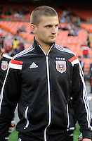 Washington, D.C.- March 29, 2014. Perry Kitchen (23) of D.C. United.  D.C. United defeated the New England Revolution 2-0 during a Major League Soccer Match for the 2014 season at RFK Stadium.