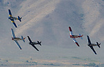 The start of a T-6 heat race during the National Championship Air Races in  Reno, Nevada on Saturday, Sept. 14, 2019.