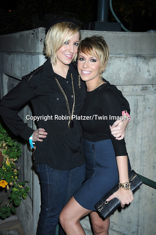 Farah Fath and sister Victoria on left attending ABC Casino Night on October 28, 2010 at Guastavinos in New York City. .