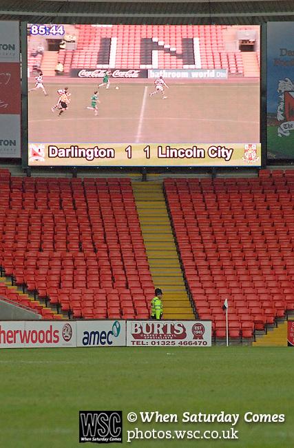 Darlington 1 Lincoln City 1, 09/04/2007. The Darlington Arena, League Two. Photo by Paul Thompson.