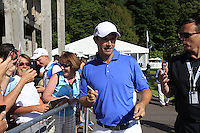 Padraig Harrington (IRL) signs autographs after finishing his match during Friday's Round 2 of the 2014 Irish Open held at Fota Island Resort, Cork, Ireland. 20th June 2014.<br /> Picture: Eoin Clarke www.golffile.ie