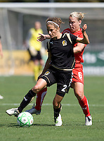 26 April 2009: Kimberly Yokers of the FC Gold Pride in action during the game against Washington Freedom at Buck Shaw Stadium in Santa Clara, California.   Washington Freedom defeated FC Gold Pride, 4-3.