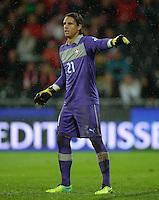 Fussball International  WM Qualifikation 2014   in Bern Schweiz - Slowenien         15.10.2013 Torwart Yann SOMMER (Schweiz)