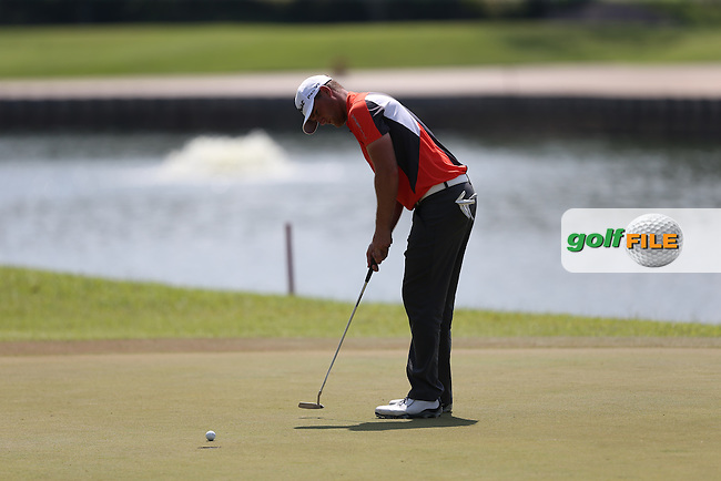 Lucas Bjerregaard (DEN) birded twice and bogeyed the same for a par round during Round Three of the The Championship 2014 from the Laguna National Golf & Country Club, Tampines, Singapore. Picture:  David Lloyd / www.golffile.ie