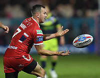 Picture by Anna Gowthorpe/SWpix.com - 02/02/2018 - Rugby League - Betfred Super League - Hull KR v Wakefield Trinity - KC Lightstream Stadium, Hull, England - Wakefield Trinity's Keegan Hirst is tackled by Hull KR's Danny McGuire