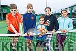 Cian Casey, Louie Py, Ruben and Mia Rivas-May and Isabella Araiza enjoying the fun day at the Tralee Tennis Club on Sunday.