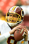 Landover, Maryland - November 27, 2005 --  Washington Redskins quarterback Mark Brunell (8) warms-up prior to the game against the San Diego Chargers at FedEx Field in Landover, Maryland on November 27, 2005.  The Chargers won the game in overtime 23 - 17..Credit: Ron Sachs / CNP