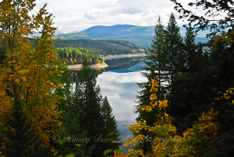 Hungry Horse Reservoir in fall.