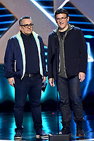 LOS ANGELES - DECEMBER 6: Presenters Joe Russo and Anthony Russo appear onstage at the 2018 Game Awards at the Microsoft Theater on December 6, 2018 in Los Angeles, California. (Photo by Frank Micelotta/PictureGroup)