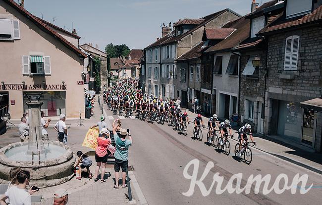 race passage in the village of Arbois<br /> <br /> 104th Tour de France 2017<br /> Stage 8 - Dole &rsaquo; Station des Rousses (187km)