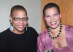 Terrie Williams & Ntozake Shange.attending the New Federal Theatre Press Conference at Trump Place, New York City.