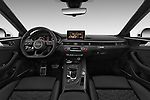Stock photo of straight dashboard view of a 2018 Audi RS5 Base 2 Door Coupe