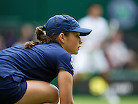 25-06-13, England, London,  AELTC, Wimbledon, Tennis, Wimbledon 2013, Day two, Ballgirl<br /> <br /> <br /> <br /> Photo: Henk Koster
