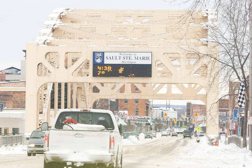 Scenes from around Sault Ste. Marie Michigan in winter.