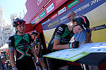 Parkhotel-Valkenburg team at sign on before the start of Stage 2 of the Madrid Challenge by La Vuelta, a team time trial running 98.6km around the streets of Madrid, Spain. 16th September 2018.                   <br /> Picture: Unipublic/Vicent Bosch | Cyclefile<br /> <br /> <br /> All photos usage must carry mandatory copyright credit (&copy; Cyclefile | Unipublic/Vicent Bosch)