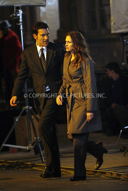 WWW.ACEPIXS.COM . . . . .  ....April 22 2008, New York City....Clive Owen and Julia Roberts were on the set of 'Duplicity' in the West Village in Manhattan.....Please byline: NANCY RIVERA- ACE PICTURES.... *** ***..Ace Pictures, Inc:  ..tel: (646) 769 0430..e-mail: info@acepixs.com..web: http://www.acepixs.com