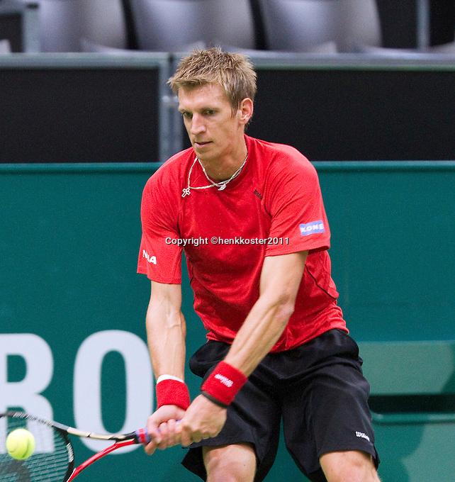 2011-02-08, Tennis, Rotterdam, ABNAMROWTT,   David Ferrer, Jarkko Nieminen