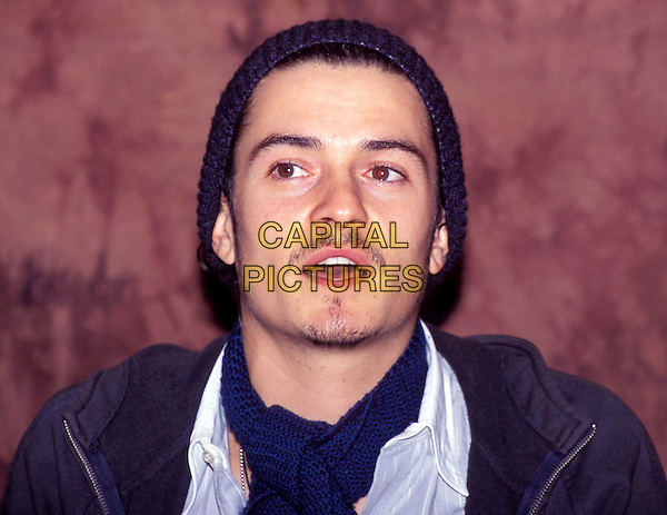 ORLANDO BLOOM.Ref: ND.stubble, hat, mustache, goatee, facial hair, headshot, portrait.www.capitalpictures.com.sales@capitalpictures.com.Supplied by Capital Pictures.