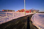 Entrance to beautiful farm in Union County, PA. Barry Maxwell Farm in winter.