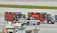 www.acepixs.com<br /> <br /> No New York Dailies.<br /> <br /> January 6 2017, Ft Lauderdale<br /> <br /> Law enforcement take control of Fort Lauderdale Airport following a shooting in the baggage reclaim area of Terminal 2 on January 6 2017. At time of writing five people are dead with a further eight injured. The shooter was taken into custody and has since been identified as 26-year-old Esteban Santiago.<br /> <br /> No New York Dailies.<br /> <br /> <br /> <br /> By Line: Solar/ACE Pictures<br /> <br /> ACE Pictures Inc<br /> Tel: 6467670430<br /> Email: info@acepixs.com<br /> www.acepixs.com
