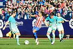 Atletico de Madrid Andrea Sanchez Falcon and FC Barcelona Marta Unzue during match of La Liga Femenina between Atletico de Madrid and FC Barcelona at Vicente Calderon Stadium in Madrid, Spain. December 11, 2016. (ALTERPHOTOS/BorjaB.Hojas)