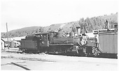 RGS 4-6-0 #20 switching in Dolores yard.  An unidentified goose is in the background.<br /> RGS  Dolores, CO  Taken by Maxwell, John W. - 7/13/1946