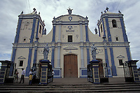 Restored cathedral in the town of Rivas, Nicaragua