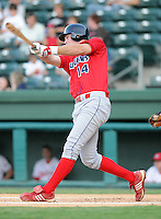 July 29, 2009: Infielder Travis Mattair (14) of the Lakewood BlueClaws, Class A affiliate of the Philadelphia Phillies, in a game at Fluor Field at the West End in Greenville, S.C. Photo by: Tom Priddy/Four Seam Images