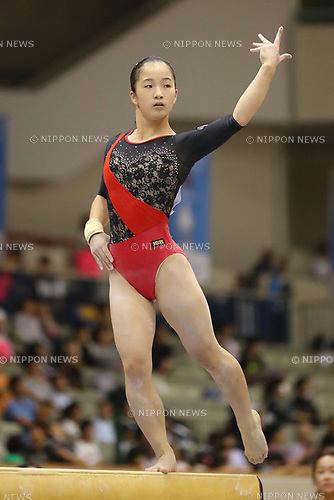 Hinako Bundo (), <br /> AUGUST 21, 2017 - Artistic Gymnastics : <br /> 48th All Japan Junior High School Championships <br /> Women's Individual All-Around <br /> Balance Beam <br /> at Kitakyushu City General Gymnasium, Fukuoka, Japan. <br /> (Photo by YUTAKA/AFLO)