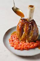 Jarret de veau braisé à la tomate de Marmande - recette de Christian Constant