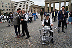 Germany, Berlin, 2017/09/06<br /> <br /> Holocaust Survivor Band music video recording at Brandenburg Gate BERLIN Photo by Gregor Zielke (Photo by Gregor Zielke)