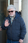 Spanish director Pedro Almodovar arrived to the wake of Bimba Bose at the La Paz tannery in Madrid. Spain. January 24th 2017. (ALTERPHOTOS/Rodrigo Jimenez)