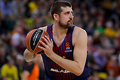 8th December 2017, Palau Blaugrana, Barcelona, Spain; Turkish Airlines Euroleague Basketball, FC Barcelona Lassa versus Fenerbahce Dogus Istanbul; Adrien Moerman of FC Barcelona with the ball