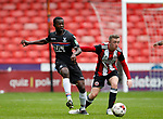 Tyrick Mitchell of Crystal Palace and Jordan Hallam of Sheffield Utd during the Professional Development U23 match at Bramall Lane, Sheffield. Picture date 4th September 2017. Picture credit should read: Simon Bellis/Sportimage