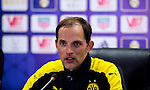 SHENZHEN - JULY 28: Borussia Dortmund's coach Thomas Tuchel attends a press conference after the Borussia Dortmund and Manchester City FC match as part of 2016 International Champions Cup China match at the Shenzhen Stadium on 28 July 2016 in Shenzhen, China. (Photo by Power Sport Images/Getty Images)