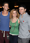 Richard Fleeshman, Caissie Levy & Bryce Pinkham.attending the Broadway Opening Nigh Gypsy Robe Ceremony for 'GHOST' honoring recepient James Brown III at the Lunt-Fontanne Theater on 4/23/2012 in New York City.