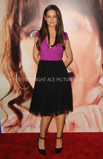 WWW.ACEPIXS.COM . . . . .  ....November 6 2011, LA....Actress Katie Holmes arriving at the premiere of Columbia Pictures' 'Jack And Jill' at the Regency Village Theatre on November 6, 2011 in Westwood, California.....Please byline: PETER WEST - ACE PICTURES.... *** ***..Ace Pictures, Inc:  ..Philip Vaughan (212) 243-8787 or (646) 679 0430..e-mail: info@acepixs.com..web: http://www.acepixs.com
