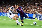 UEFA Champions League 2017/2018 - Matchday 1.<br /> FC Barcelona vs Juventus Football Club: 3-0.<br /> Andrea Barzagli vs Luis Suarez.