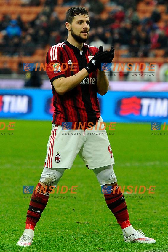 Mattia Destro Milan<br /> Milano 15-02-2015 Stadio Giuseppe Meazza - Football Calcio Serie A Milan - Empoli. Foto Giuseppe Celeste / Insidefoto