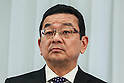Honda Motors Co., Ltd. President & CEO Takahiro Hachigo attends a press conference to explain his future direction and vision for the company at its headquarters on February 24, 2016, Tokyo, Japan. Hachigo announced Honda's global future strategy, which includes continuing to deliver attractive unique products across its product range; including motorcycles, automobiles and power products. The company also announced plans to launch a new model of the Honda Civic in China and Japan this year. Honda will also work with General Motors to develop the next-generation of fuel cell system products by 2020. (Photo by Rodrigo Reyes Marin/AFLO)