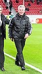 10.03.2011,  BayArena, Leverkusen, GER, UEFA EL, Bayer Leverkusen vs Villarreal C.F. , Achtelfinale, im Bild: Jupp Heynckes (Trainer Leverkusen) (R) lacht   Foto © nph / Mueller