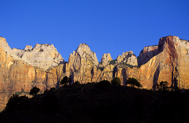 Towers of the Virgin  in Zion National Park, Utah, USA